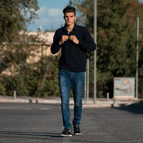 501.BLUE ΑΝΔΡΙΚΗ POLO SHIRT ΓΙΑΚΑΣ ΤΡΕΣΑ MOHICANS