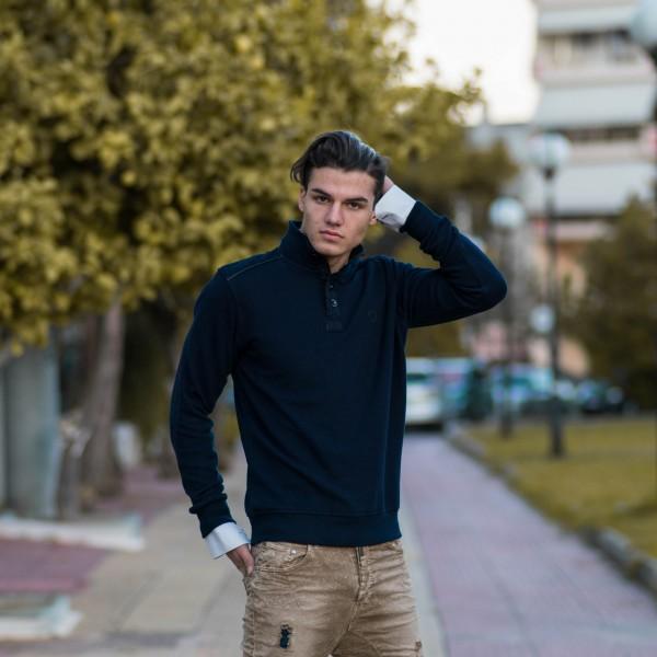 ΑΝΔΡΙΚΟ POLO SHIRT ΚΟΥΜΠΙ MOΝΟΧΡΩΜΟ MOHICANS