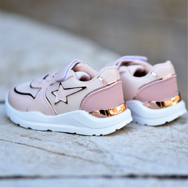 CB-228.PINK ΠΑΙΔΙΚΟ ΠΑΠΟΥΤΣΙ SNEAKERS ΓΙΑ ΚΟΡΙΤΣΙ MOHICANS