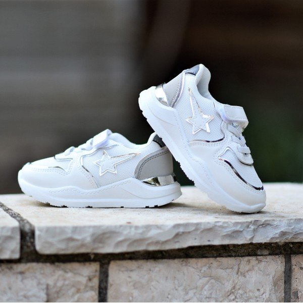 CB-228.WHITE ΠΑΙΔΙΚΟ ΠΑΠΟΥΤΣΙ SNEAKERS ΓΙΑ ΚΟΡΙΤΣΙ MOHICANS