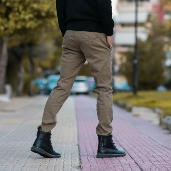 DS128-7.BEIGE ΑΝΔΡΙΚΟ ΠΑΝΤΕΛΟΝΙ CHINOS MOHICANS