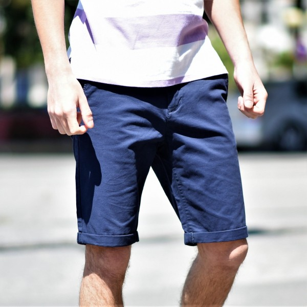 FT-304.BLUE ΑΝΔΡΙΚΗ ΒΕΡΜΟΥΔΑ CHINOS MOHICANS