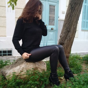 WOMEN'S LEGGINGS LEATHER