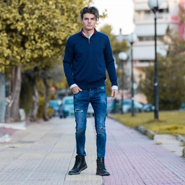 ΑΝΔΡΙΚΟ ΠΛΕΚΤΟ ΜΙΣΟ ΦΕΡΜΟΥΑΡ COTTON MOHICANS